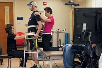A paralyzed man makes great strides with spinal stimulation and rehab