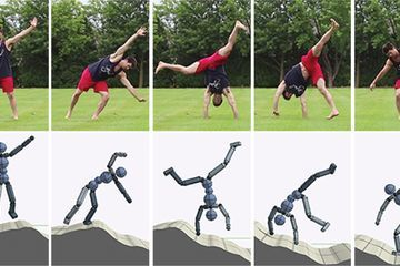 Virtual avatars learned cartwheels and other stunts from videos of people