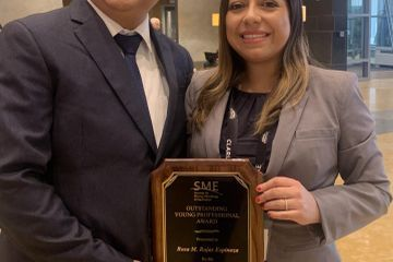 First Peruvian recipient of mining organization's 'Outstanding Young Professional' award