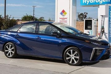 How many solar panels does it take to fill up a hydrogen car?