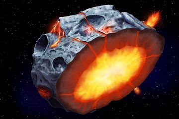 Metal asteroids may have once had iron-spewing volcanoes