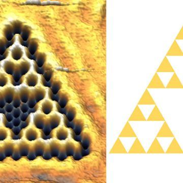 Physicists wrangled electrons into a quantum fractal