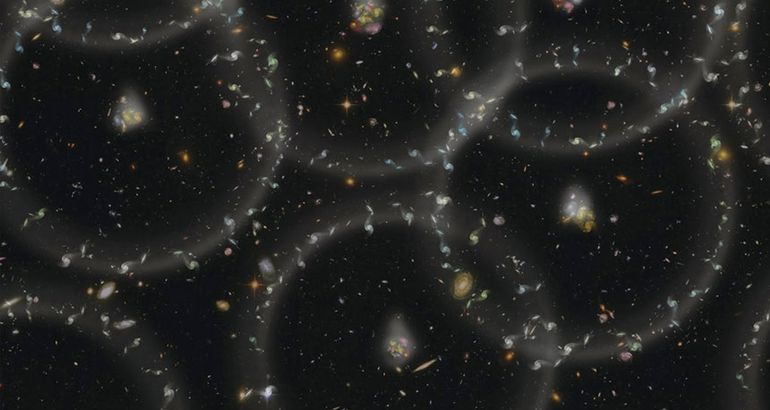 Hidden ancient neutrinos may shape the patterns of galaxies
